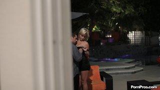 tall blonde slut caught
