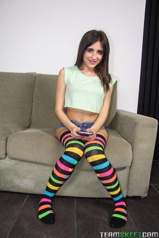 spanish denim shorts latina