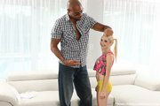 blonde teen big black