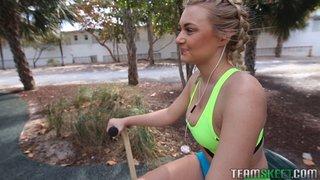 beach, teen, voluptuous, workout