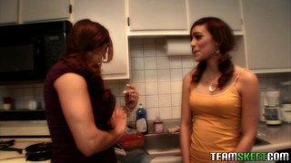 spanish lesbians licking pussy