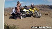 out the arid desert