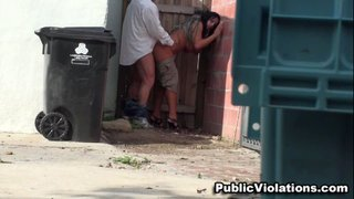 squatting alley trashcan dirty