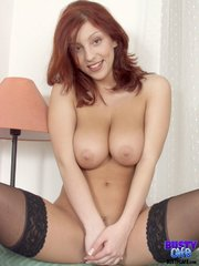 sexy redhead wears black