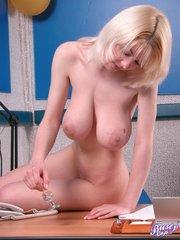 adorable blonde angel secretary