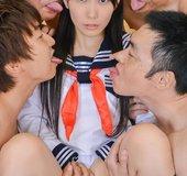 Yui Kasugano asian japanese gangbang