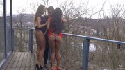 european brunette threesome