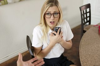 uniform hot teen glasses