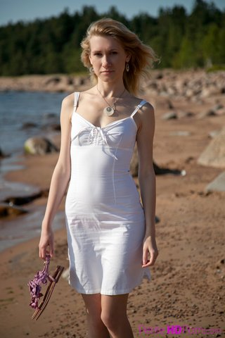russian blonde beach sex