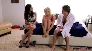 american latina lesbian threesome