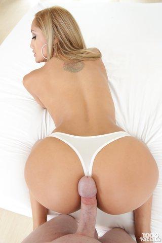 blonde latina blowjob pov