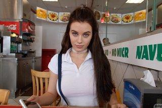 brunette supermarket