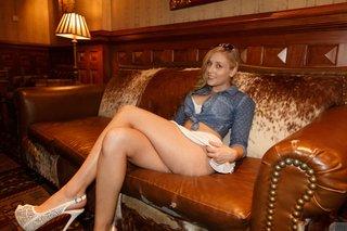 blonde thong