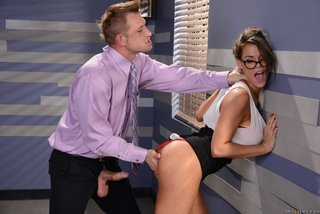 missionary office blowjob