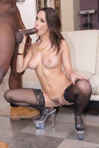interracial stockings high heels
