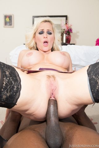 interracial blonde anal