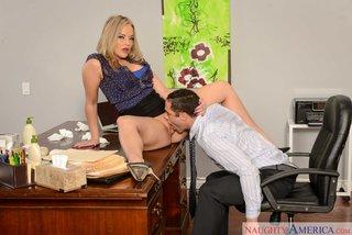 naughty office blowjob