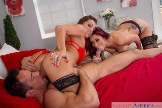 redhead naughty threesome