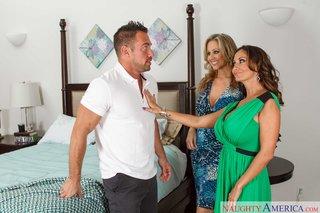 mature brunette wife threesome
