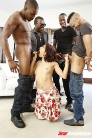 interracial first gangbang