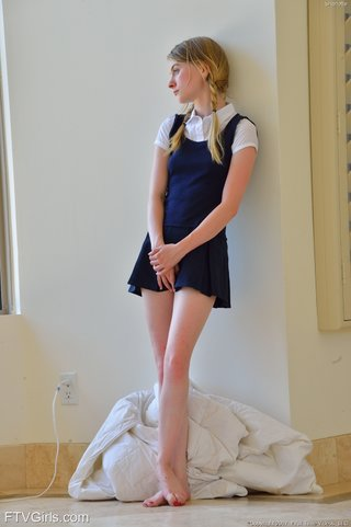 skinny young blonde teen