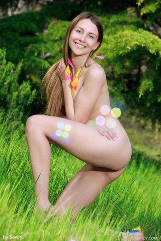 russian brunette