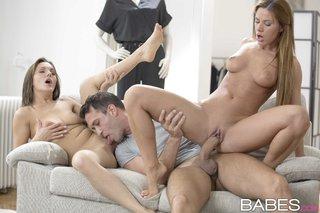 hungarian european lesbian threesome