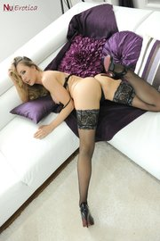 blonde erotic stockings