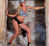 Erotic blonde babe