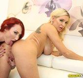 American blonde redhead lesbian