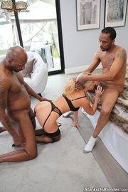 threesome milfs interracial lingerie
