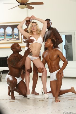 blonde interracial groupsex