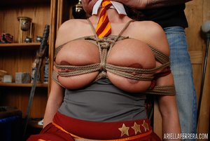 Brunette tied up - XXXonXXX - Pic 4