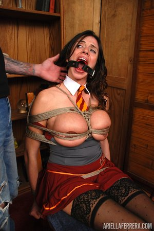 Brunette tied up - XXXonXXX - Pic 6
