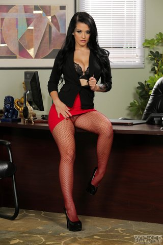 wicked office blowjob