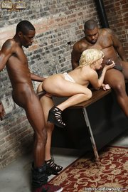 interracial gangbang blowjob