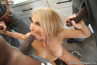 interracial mature blonde cougar