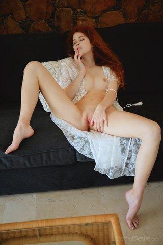 redhead european masturbation