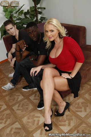 blonde mom interracial
