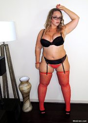 chubby mature lingerie