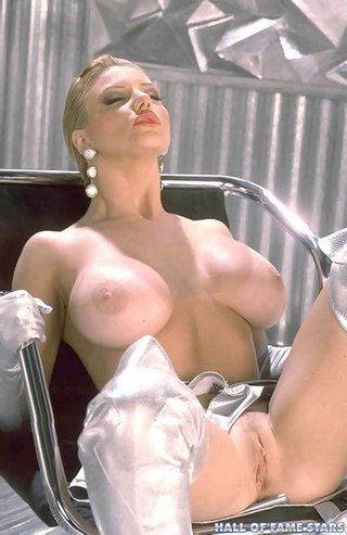 futuristic blonde whote giant