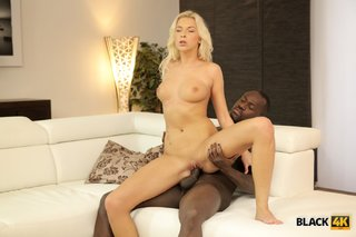 interracial young blonde beauty