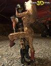 Alien 3d cartoon