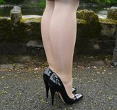 Blonde sexy legs high heels