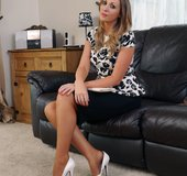 Amazing stockings high heels