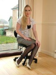 blonde sexy secretary