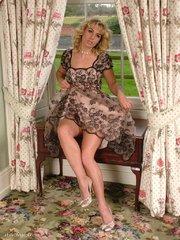 blonde legs feet