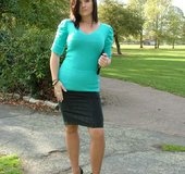Horny high heels short skirt