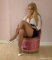 horny blonde feet