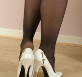 Slender blonde feet